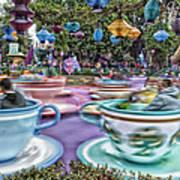 Tea Cup Ride Fantasyland Disneyland Poster by Thomas Woolworth