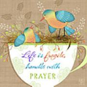 Tea Cup Wisdom Poster