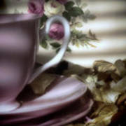 Tea Cups And Roses Poster