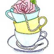Tea Cups Poster