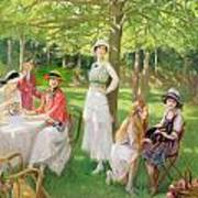 Tea In The Garden Poster
