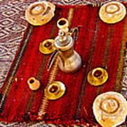 Tea Service In A Bedouin Tent In Wadi Rum-jordan Poster