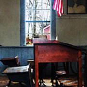 Teacher - Schoolmaster's Desk Poster