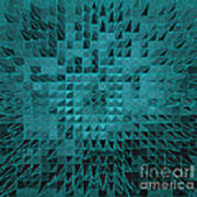 Teal Quilt Poster