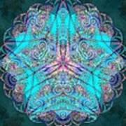 Teal Starfish Poster