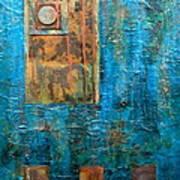 Teal Windows Poster by Debi Starr