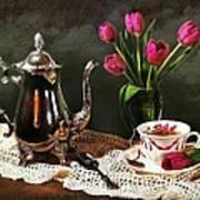 Tea'n Tulips Poster