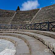 Teatro Grande Or Grand Amphitheater Pompeii Italy Poster