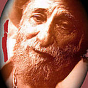 Ted Degrazia Portrait By Henry Redl Circa 1980-2013 Poster