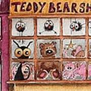 Teddy Bear Shop Poster by Lucia Stewart