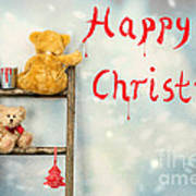 Teddy Bears At Christmas Poster