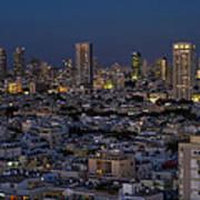 Tel Aviv At The Twilight Magic Hour Poster