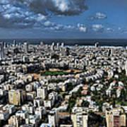 Tel Aviv Center Poster by Ron Shoshani