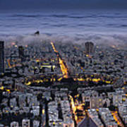 Tel Aviv Under Fog  Poster