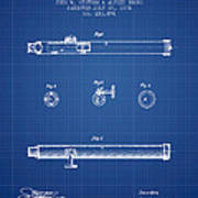 Telescope Patent From 1874 - Blueprint Poster