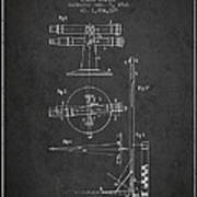 Telescope Telemeter Patent From 1916 - Charcoal Poster