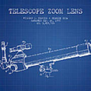 Telescope Zoom Lens Patent From 1999 - Blueprint Poster