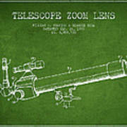 Telescope Zoom Lens Patent From 1999 - Green Poster
