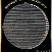 Telescopic View Of The New Moon Poster