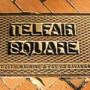Telfair Square In Savannah Poster