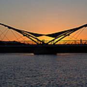 Tempe Bridge Sunset Poster