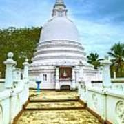 temple complex at the tropical island Sri Lanka Poster by Regina Koch