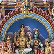 Temple Deity Statues India Poster