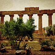 Temple Of Juno Lacinia In Agrigento Poster
