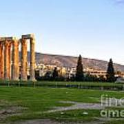 Temple Of Olympian Zeus. Athens Poster