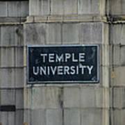 Temple U Poster