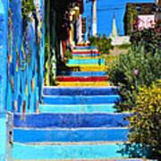Templeman Street Valparaiso Chile Poster