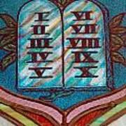 Ten Commandments Glass Poster