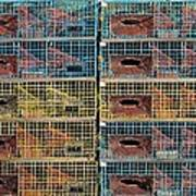 Ten Lobster Traps Poster by Stuart Litoff