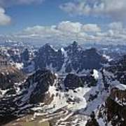 T-703502-ten Peaks From Summit Of Mt. Lefroy Poster