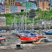 Tenby Harbour In Summer 4 Poster