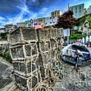 Tenby Lobster Traps Poster