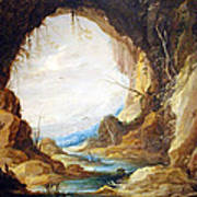Teniers' Vista From A Grotto Poster