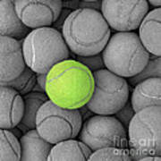 Tennis Balls Background Texture Poster by Phaitoon Sutunyawatcahi