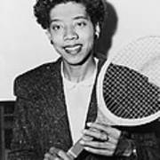 Tennis Star Althea Gibson Poster
