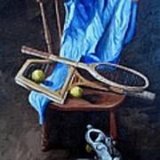 Tennis Still Life Poster