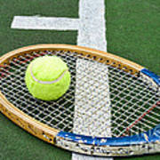 Tennis - Wooden Tennis Racquet Poster by Paul Ward