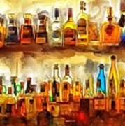 Tequila Bar At Aquila Restayrant Poster