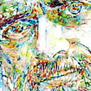 Terence Mckenna Watercolor Portrait.1 Poster