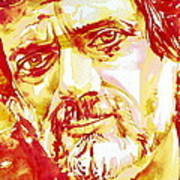 Terence Mckenna Watercolor Portrait.2 Poster