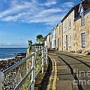 Terraced Cottages At Mousehole Poster