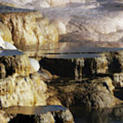 Terraces, Mammoth Hot Springs Poster