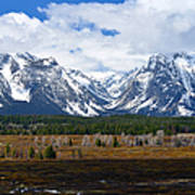 Teton Panorama I Right Panel Poster