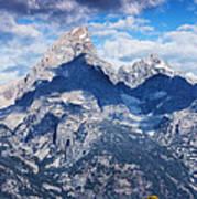 Teton Range And Two Trees Poster