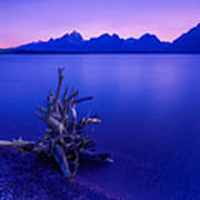 Teton Summer Sunset Poster by Jerry Patterson