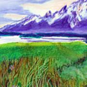 Teton View Poster